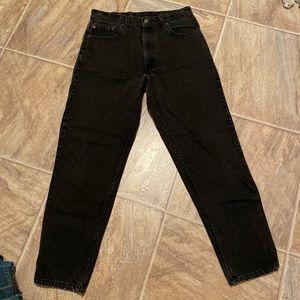 Vintage Levis 550 black high rise jeans 34/30 (32)